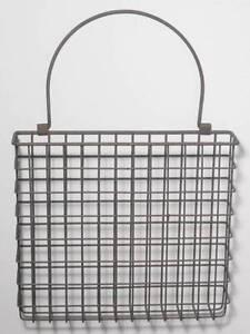 Metal Wire Basket Wall Pocket Arrangement Mail Holder Organizer Country Style 847013019083 Ebay