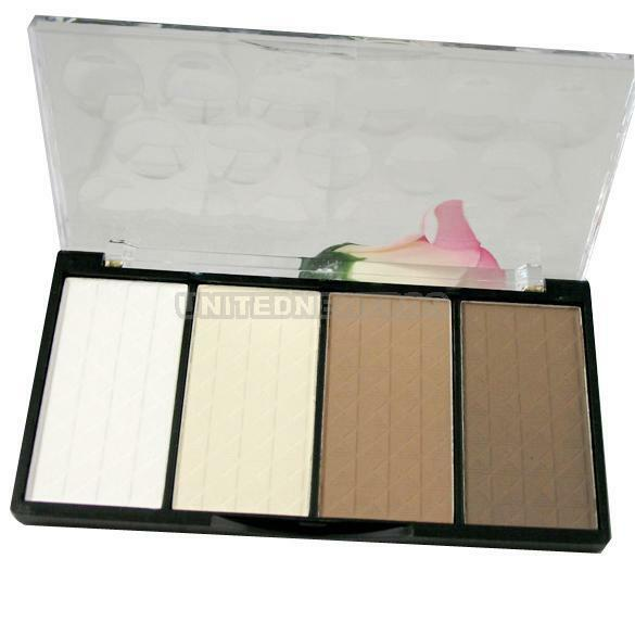 4 Colour Make-up Cosmetic Pressed Powder Highlight And Contour Powder Shading