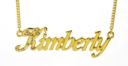 Bijoux Personnalisé Meilleur ami Mode Collier Prénom KIMBERLY 18K Plaqué or
