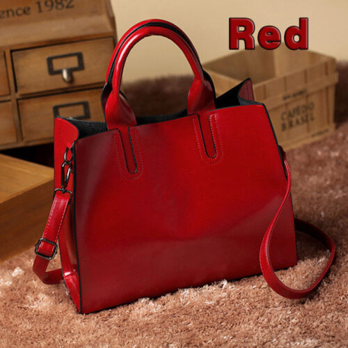 New Ladies Women Fashion Large Leather Tote Hobo Shopper Shoulder Bag Handbag UK