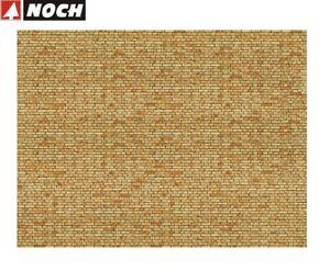 NOCH-H0-56613-3D-Kartonplatte-Mauerplatte-034-Klinker-034-1-m-57-28-NEU