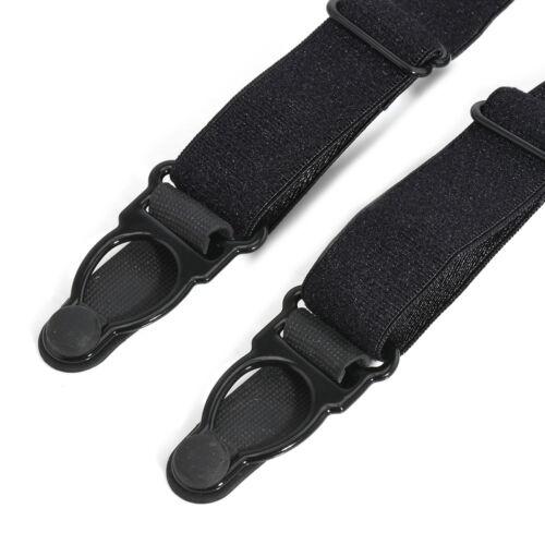 2pcs Mens Stays Holders Elastic Shirt Garter Non-Slip Locking Clamps Uniform HS