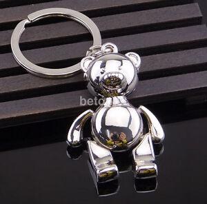 Cute-Metal-Little-Bear-Bag-Car-Keychain-Key-Ring-keyring-Keyfob-3D-Pendant-Gift