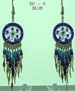 Handcrafted-DREAMCATCHER-EARRINGS-seed-beads-dangle-Unique
