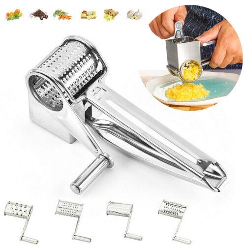 5Pcs Stainless Steel Cheese Grater Hand Held Rotary Sharp Cutter Slicer Shreddek