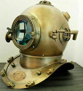 Morse-Antique-Scuba-SCA-Divers-Diving-Helmet-US-Navy-Mark-V-Boston-Marine-Divers