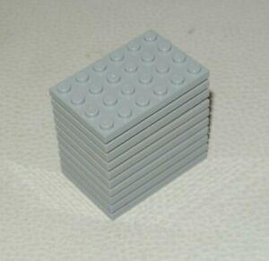 Lego 10x tan plate 4 x 4 NEUF