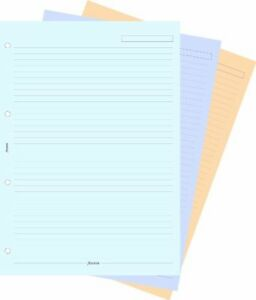 Filofax Refill Insert Ruled Paper A4 Assorted Ref 293054 [30 Sheets]