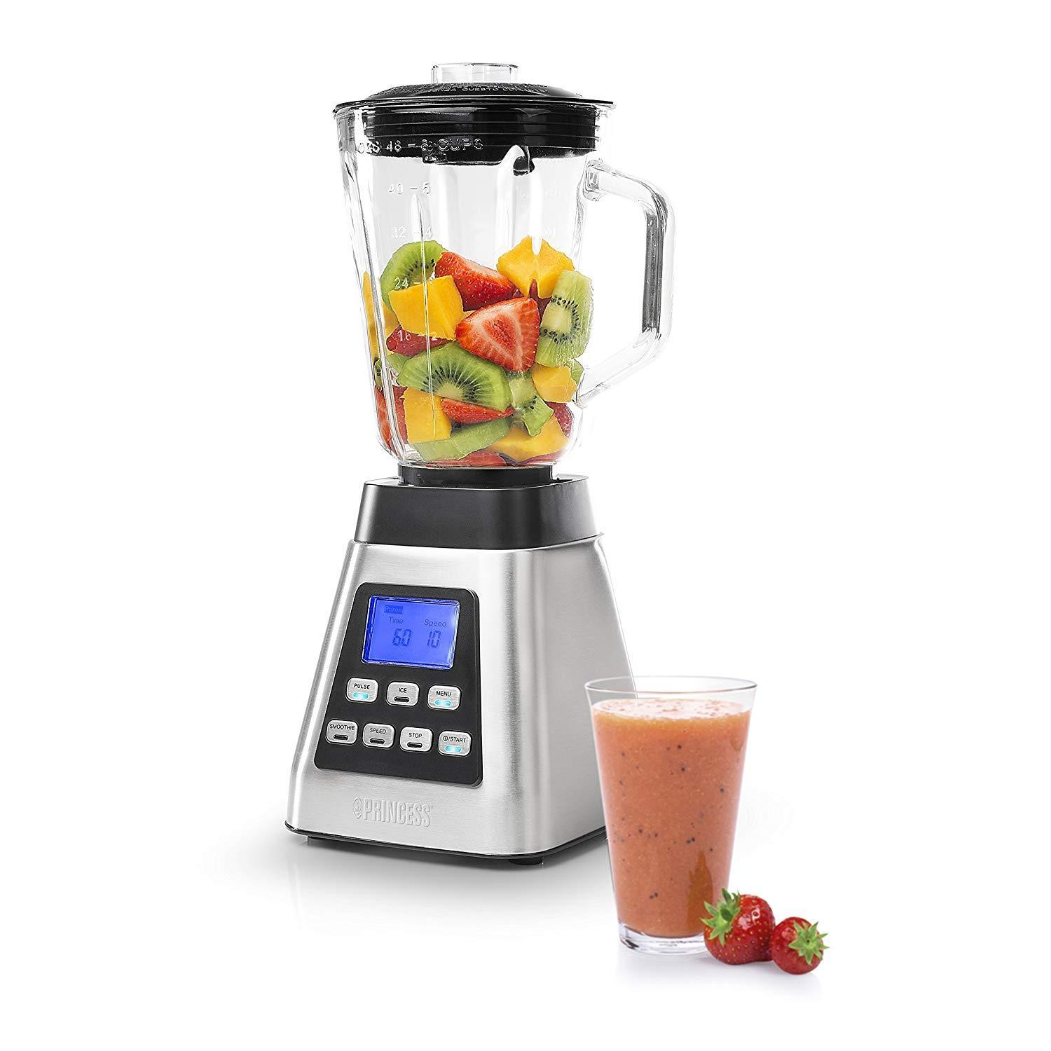 Princess 212071 Power Deluxe Blender Powerful 1000 W Screen LCD 10 Speed