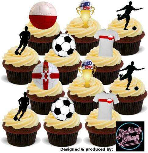 NOVELTY Euro 2016 POLAND Football Party Pack Mix Edible Cake Toppers Decorations