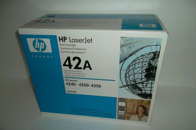NEW GENUINE Q5942A HP LASERJET 4250 4350 PRINT CARTRIDGE BLACK 10K