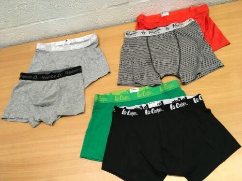 Lee Cooper Reebok Penguin Men/'s Boxer Shorts TRUNKS S M L 2 paires NEUF