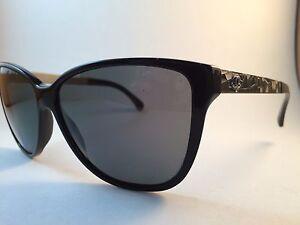 a3de19dd7ff7a5 New Authentic Chanel 5222 sunglasses 501/3F black with mosaics | eBay