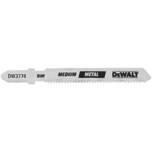 "DEWALT DW3774-5 3/"" 18TPI T-Shank Medium Metal Jig Saw Blade Pack of 5"