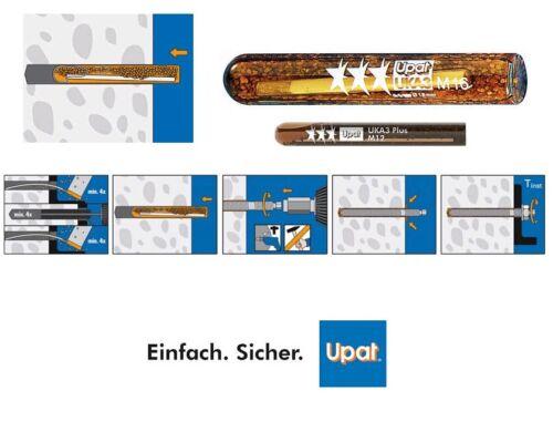 Upat Klebepatronen Verbundanker UKA 3 Plus Dübel Patronen M8 M10 M12 M16 M20//22