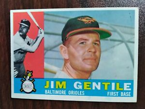 1960 Topps Set Break #448 Jim Gentile BALTIMORE ORIOLES FREE SHIPPING