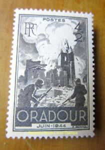 EBS-France-1945-Oradour-sur-Glane-Massacre-YT-742-MNH