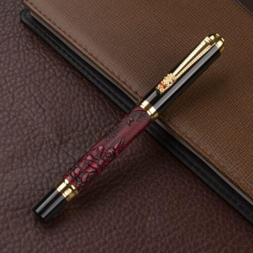 Brown Füllfederhalter Gold Luxus Feder Füller Pen Nizza Neu