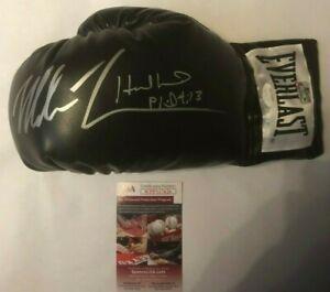 Mike-Tyson-amp-Evander-Holyfield-Autographed-Everlast-Black-Boxing-Glove-JSA-COA