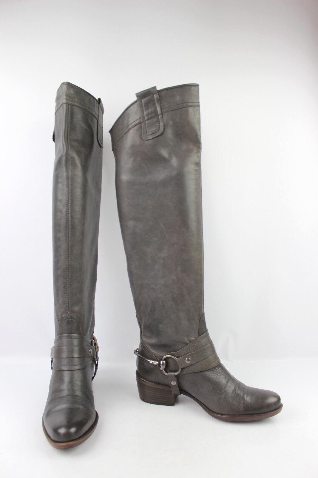 Stiefel hohe Vollleder grau t 37 sehr guter Zustand