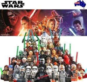 Star-Wars-LEGO-figs-amp-MOC-Vader-Yoda-Luke-Leia-Ren-Mandalorian-C3PO-Solo-Clone
