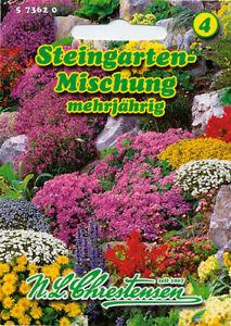 N.L.Chrestensen Steingarten-Mischung mehrjährig Stauden Samen Blumen ...