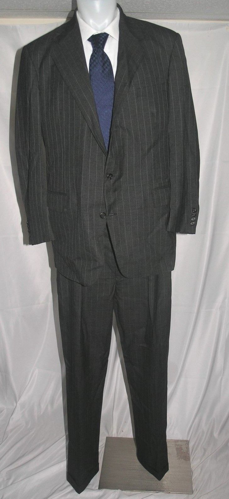 Polo Ralph Lauren Vintage Two Button American Made Suit 46 L 40 x 34