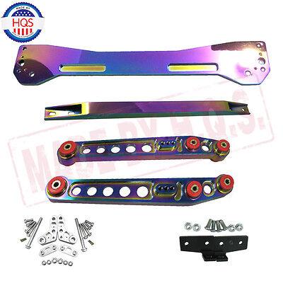 NEO CHROME Rear Lower Control Arm + Subframe Brace + Tie Bar For 96-00 Civic EK
