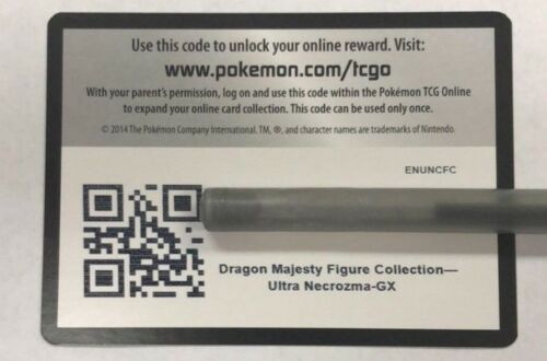 1x Dragon Majesty Ultra Necrozma Figure Collection PTCGO Code EMAILED IN HAND
