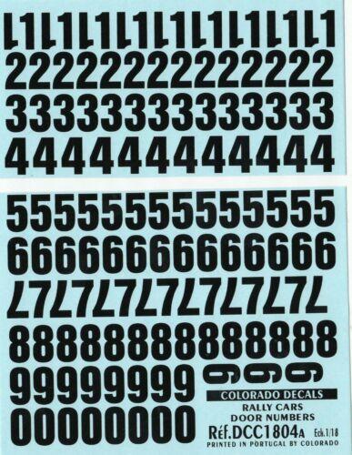 1804 A Decalbogen Start Numéros Noir 1:18