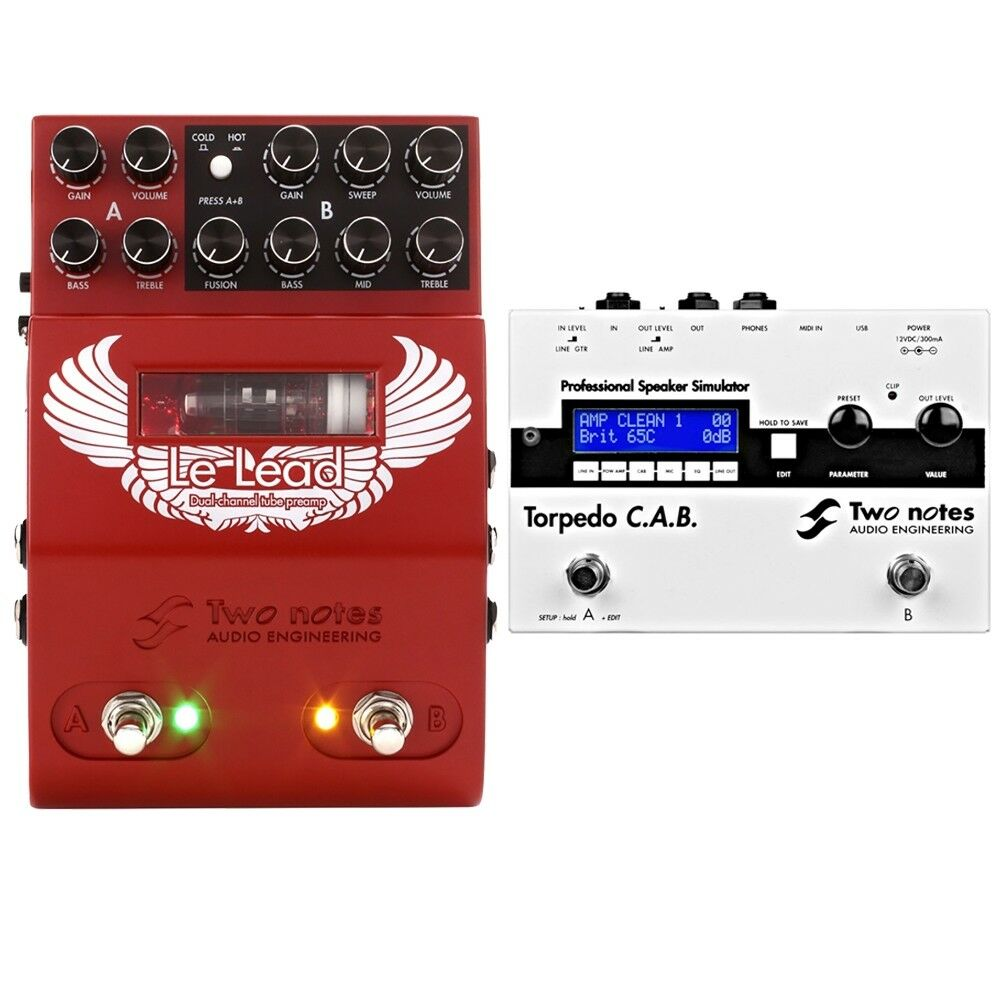 Two Notes Audio Engineering LeLead Preamp + Torpedo CAB Speaker Simulator Pedal