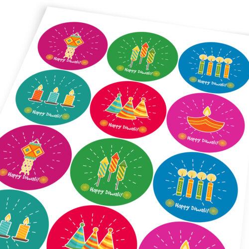 Happy Diwali Festival India Sticker Labels Children Teacher Praise Parent School
