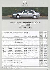 4058MB-Mercedes-C-Klasse-Preisliste-2000-31-1-00-43-AMG-280-240-230-K-200-220
