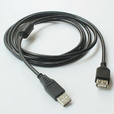 Hi-Speed USB 2.0 Cable Type A to Female Extention Cord w/Ferrite Core - 2x 6FT