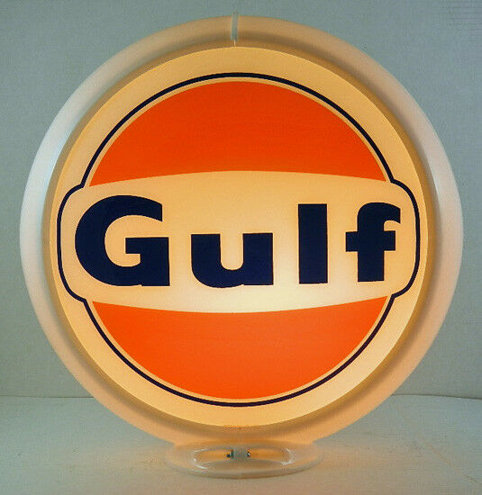 GULF 1960'S LOGO GAS PUMP ADVERTISING GLOBE  G-138  FREE S&H