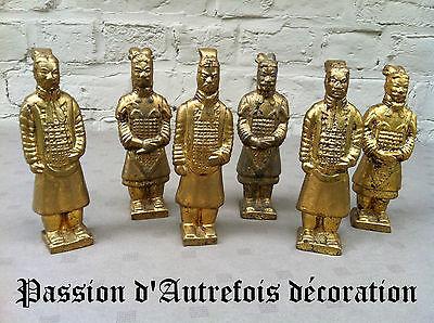 Heerlijk B20131096 - Lot De 6 Figurines Asiatiques En Terre Cuite - Tb état