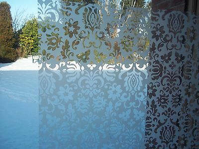 67.5cm W CLASSIC ORNAMENT WHITE FROSTED GLASS PRICACY STATIC CLING SELF ADHESIVE