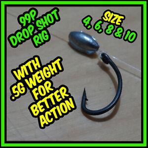 Pre tied wire Dropshot Rigs Perch Zander Chub fishing Pike