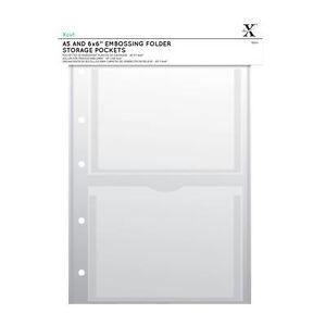 Xcut A4 Embossing Folder Storage Case Wallets 5pk With