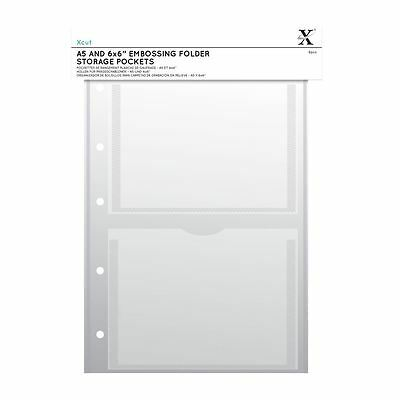 Xcut A4 Embossing Folder Storage Case Wallets 5pk with A6 Pockets