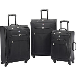 American-Tourister-Pop-Plus-3pc-Spinner-Set-4-Colors-Luggage-Set-NEW