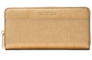 4d8c74e5f87d Image is loading New-Michael-Kors-Zip-Around-Continental-Wallet-Metallic-