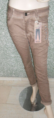 215 52 Monday Premium Trousers Size 38 40 Brown Skinny Rhinestone Inlay crashed