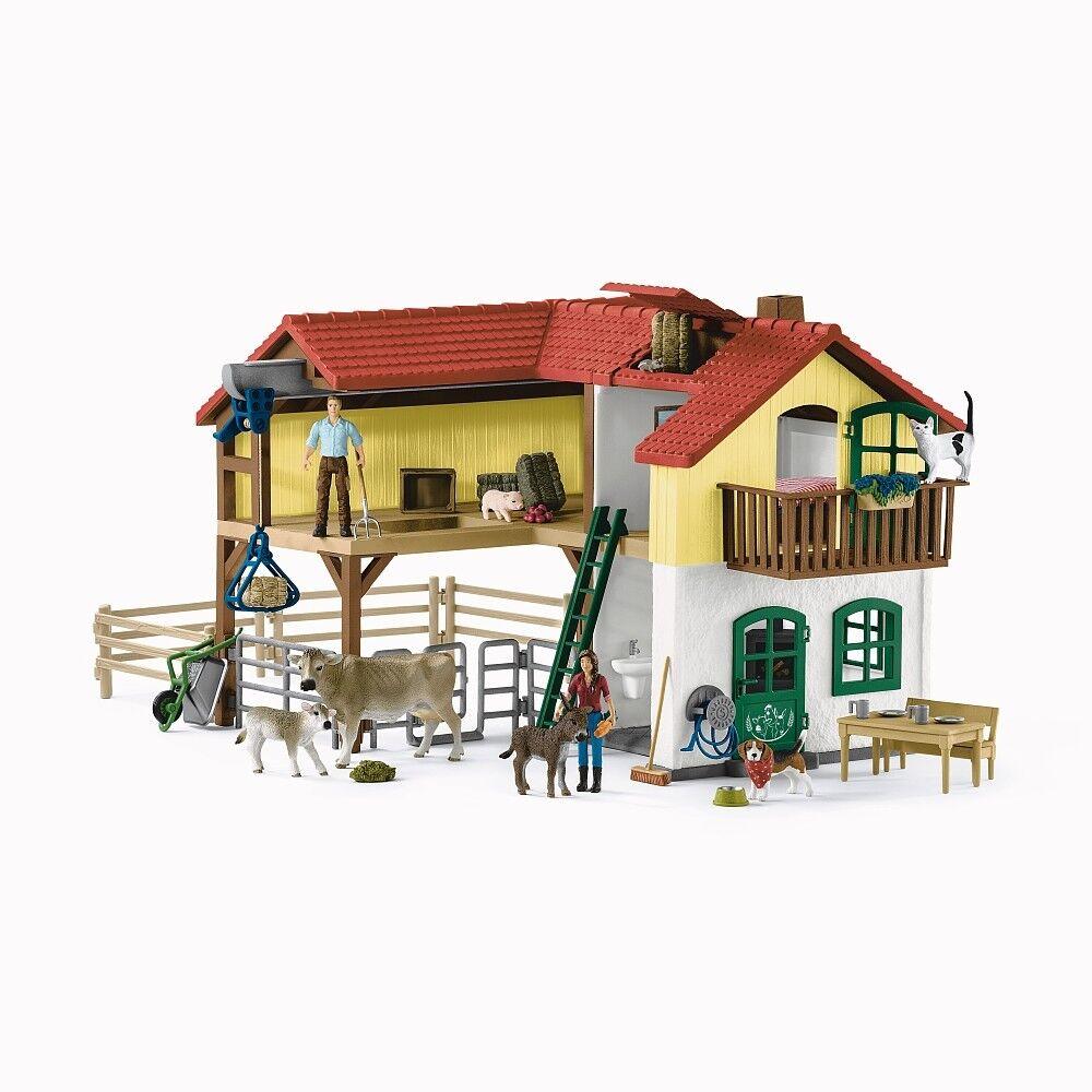 Schleich - 42407 - Bauernhaus mit Stall und Tieren - NEU OVP