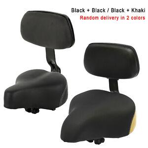 CYCLING BIKE LEATHER SOFT CUSHION REAR RACK SEAT CHILDREN SEAT W//BACK REST E1A4