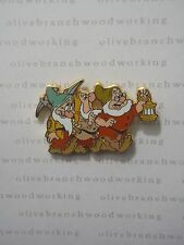 2009 Disney BASHFUL, SNEEZY, AND DOC Snow White and the Seven Dwarfs Booster Pin