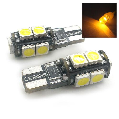 FITS AUDI A2 A3 A4 A6 A8 2X AMBER 9 SMD LED SIDE LIGHT W5W T10 501 SJSR1017A