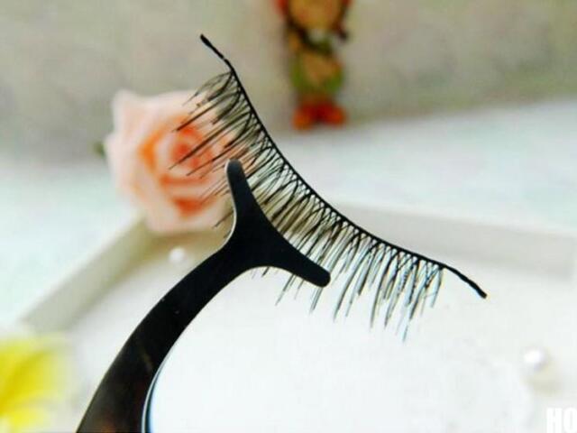 HO CA Beauty Multifunctional False Eyelashes Stainless Auxiliary Tweezers Clip