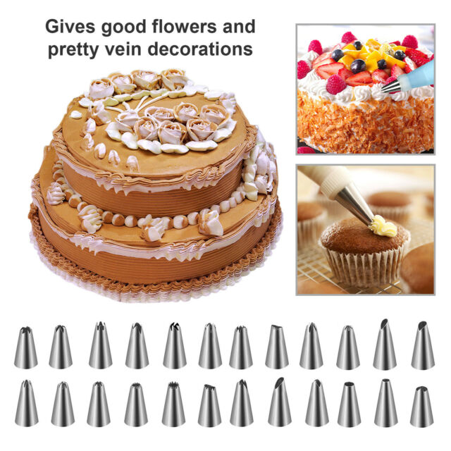 Decoration Cake Kit Set Tools Bags Russian Piping Tips Pastry Icing Bags