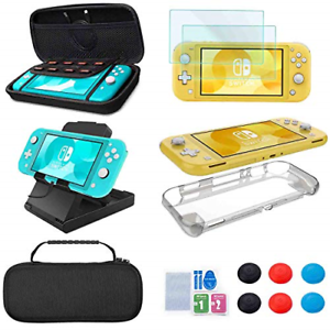 Accessories Kit for Nintendo Switch Lite - YOOWA Accessories Bundle with Case, 6